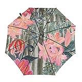 DXZ-Design Mini paraguas compacto y pequeño, automático, hermoso remolino de mármol, plegable, portátil, paraguas plegable y plegable, con protección UV para sol, lluvia, mujeres y hombres