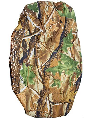 Outdoor Saxx® - Housse de sac à dos, protection contre la pluie, avec cordon en caoutchouc, universelle, compatible avec les sacs à dos jusqu'à 60 cm de longueur, camouflage Real Tree