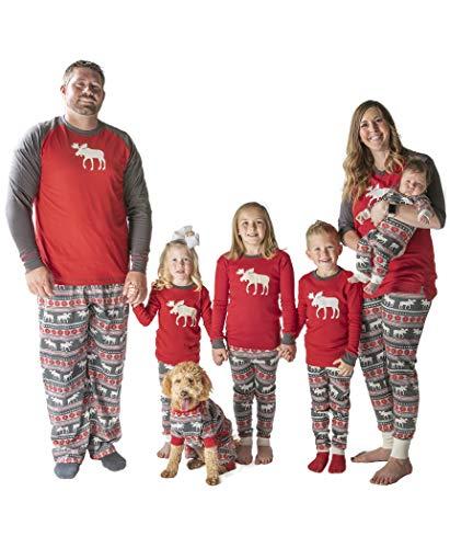 LazyOne Unisex Moose Fair Isle Pyjama Hosen Erwachsenen 2XL