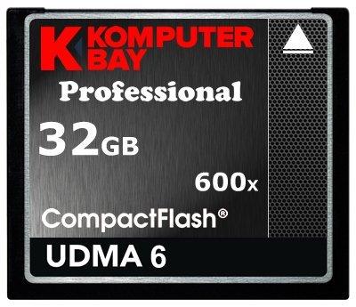 Komputerbay KB_32GB_COMPACTFLASH_600X - Tarjeta Compact Flash Profesional de 32GB CF 600X de 90 MB/s de velocidad extrema UDMA 6