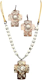 M&F Western Womens Chocolate and White Cross Concho...