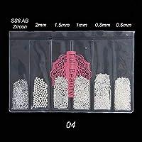 0.4 / 0.6mm小型ステンレス鋼ビーズネイルアート装飾ガングレーローズゴールドDIYツールネイルアクセサリー liaodingqin (Color : 04)
