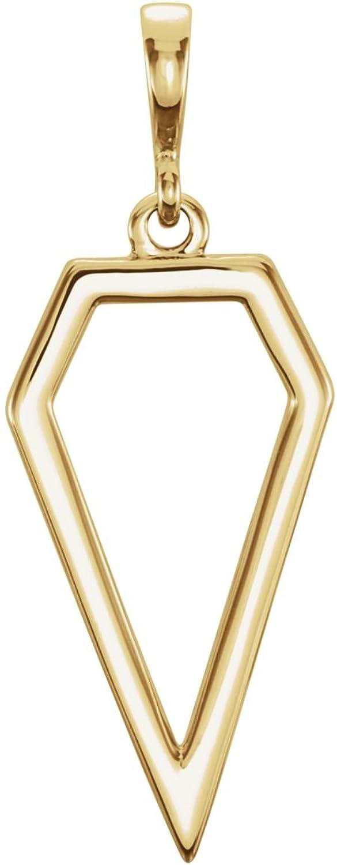 Bonyak Jewelry 14k Yellow gold Geometric Pendant