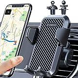 VANMASS Handyhalterung Auto Lüftung 2021 Handyhalter fürs Auto Kfz Handyhalterung mit 2 Upgrade Lüftungsclips 100% Silikonschutz Smartphone Halterung Auto 360° Drehbar für iPhone Samsung Huawei LG usw