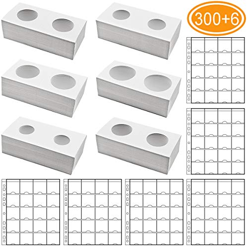 1 Page 20 Pockets Plastic Coin Holders Storage Collection Money Album Case YT