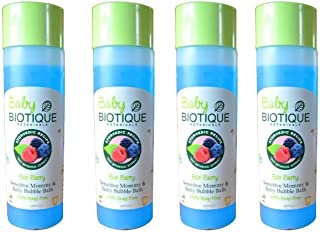 Baby Biotique Bio Berry Sensitive Mommy & Baby Bubble Bath - 100% Soap Free (4 x 190ml)