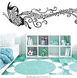 Etiqueta De La Pared Negro Música Mariposa Decoración De La Pared Stave Note Pegatinas De Pared Pvc Calcomanías De Pared/Vinilo Adhesivo Decoración Del Hogar Para Niños Habitación Extraíble