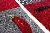 Andiamo 282565 Teppichläufer Küchenläufer Hot Pepper, Chili Schote, 67 x 200 cm, rot - 5