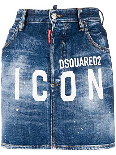 Luxury Fashion | Dsquared2 Dames S80MA0003S30663470 Donkerblauw Katoen Rokken | Lente-zomer 20