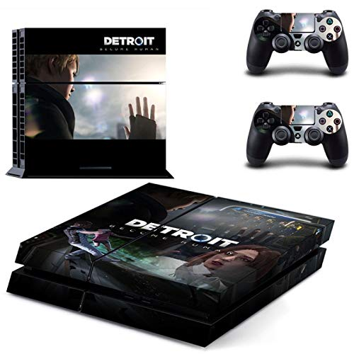 WANGPENG Detroit Become Human PS4 Skin Sticker per Playstation 4 Console e 2 Controller Decal Pelli protettive in vinile