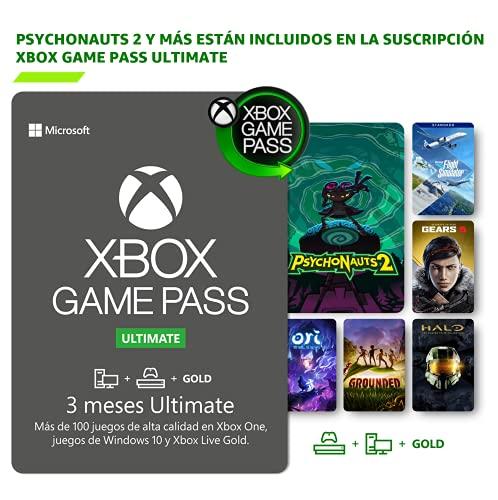 Suscripción Xbox Game Pass Ultimate - 3 Meses | Psychonauts 2: Standard se incluye con la suscripción | Standard | Xbox & Windows 10 - Código de descarga