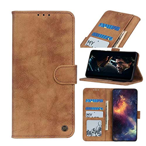 FTRONGRT Cover Compatible for Realme Narzo 30 Pro 5G Case, Flip Cover with [Card Slot] [Bracket] [Wallet], Magnetic PU Leather Wallet case for Realme Narzo 30 Pro 5G. (Brown)