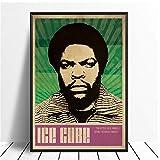 Ice Cube NWA Music Singer Poster Hip Hop Rap Music Band Star Poster Arte de la pared Pintura Habitación Decoración para el hogar Impresión de lienzo-20x28in Sin marco