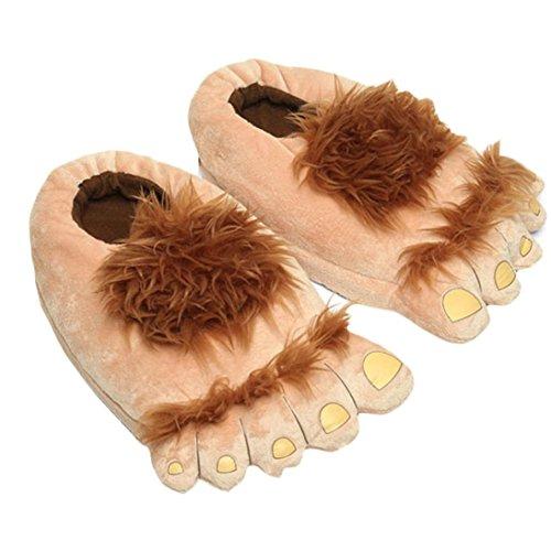 Pantuflas Invierno,Xinan Mujer Hombre Pies Grandes Zapatillas Casa Calzado