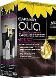 Garnier Olia coloración permanente sin amoniaco para un olor agradable con aceites florales de origen natural - Chocolate 4.15