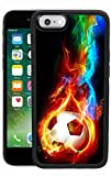 Ximalaya Flame Soccer iPhone 6s 6 Case TPU Anti-Drop Reduction Friction Phone Case Flame Soccer for iPhone 6s 6