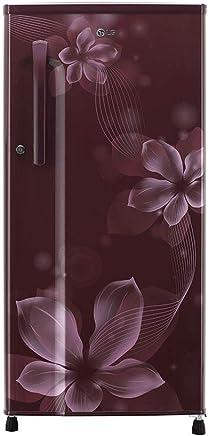 LG 188 L 3 Star Inverter Direct-Cool Single Door Refrigerator (B191KSOW, Scarlet Orchid)