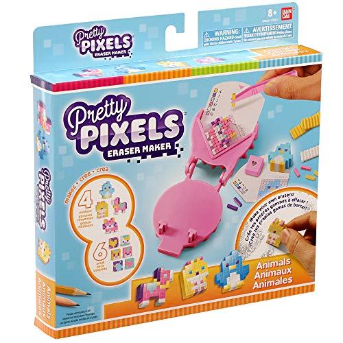 Bandai - Pretty Pixels - Krazy Pixels - Fabrique à gommes - Set de démarrage - Thème animaux - Loisirs créatifs - 38523