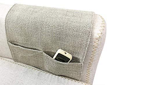 IPENNY Anti-Slip Couch Sofa Armrest Organiser Chair Bedside Storage Pocket TV Remote Holder Bed Storage Pocket Bag for Cellphone Tablet Notepad Book Magazines DVD Eyewears Drinker Snacks Holder Pouch