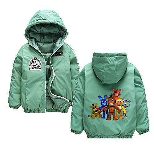 Five Nights at Freddy'S Abrigos Prendas de Abrigo Chaqueta Acolchada de Manga Larga Manténgase Abrigada en Invierno Abrigo Suelte Trench Coat Unisex Five Nights at Freddy'S Sudaderas