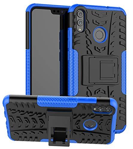 Yiakeng Funda Huawei Honor 8X Carcasa, Doble Capa Silicona a Prueba de Choques Soltar Protector con Kickstand Case para Huawei Honor 8X (Azul)