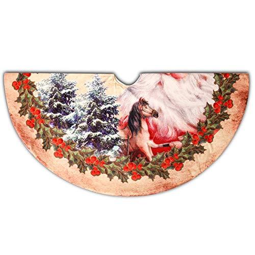 Nlight 120cm Weihnachtsbaum Röcke Plüsch Weihnachtsbaum Rock Rund Weihnachtsbaumdecke Fell Christbaumständer Teppich für Weihnachten Wohnkultur