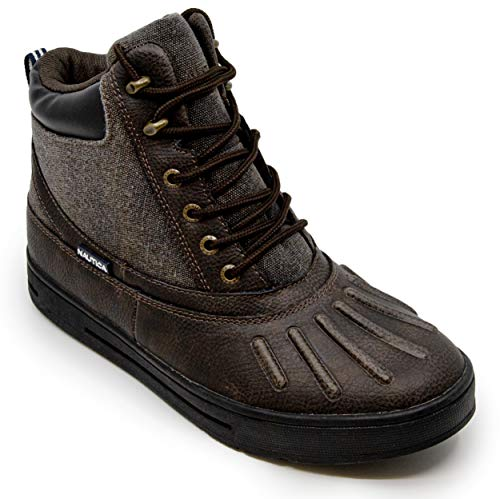 Nautica Mens New Bedford Waterproof Snow, Insulated Duck Boot-Brown Canvas-10