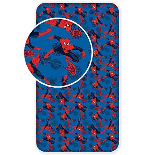 Jerry Fabrics Spiderman 2017, Baumwolle, Blue, 90 x 200 cm, 10-Einheiten