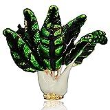 Miss charm Vierta Aceite Joyería Aleación Rhinestone Col Brooch Pin Vegetal Planta Lindo Vestido