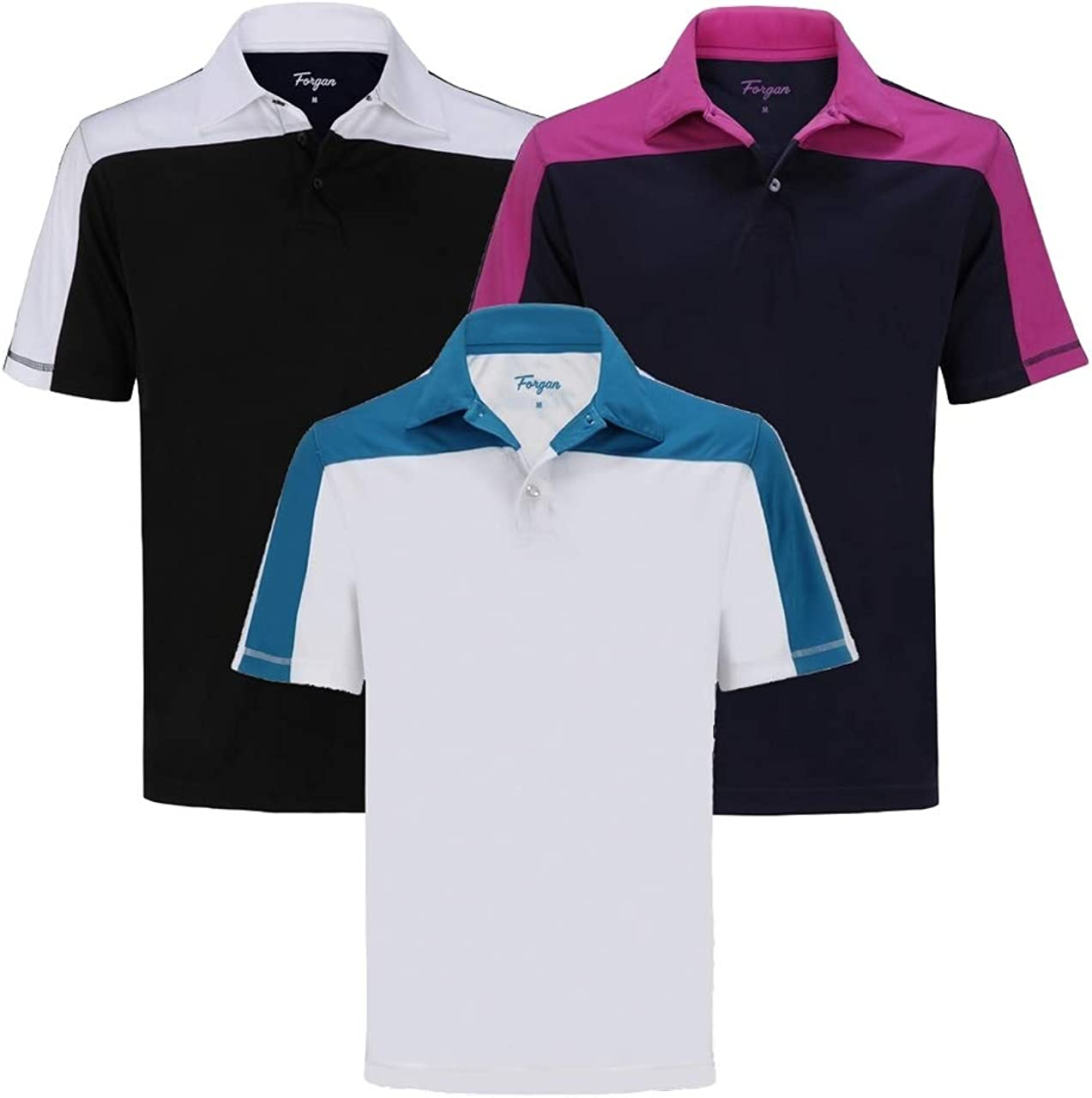Forgan of St Andrews Block Max Max 62% OFF 89% OFF Panel 3 Golf Pack Premium Polo Shirts