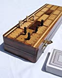 Wooden Cribbage Board with pegs and Two Packs of...