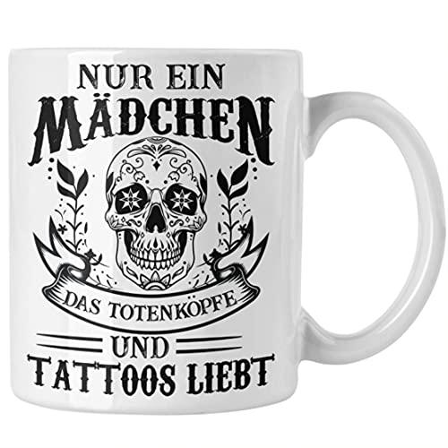 Tattoos Frauen Tasse Tätowiererin Geschenk Kaffeetasse Tattoo Totenkopf Tassen