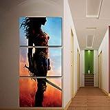 3 Stück Wonder Woman Leinwand Malerei Drucke Wandkunst