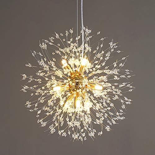 Vikaey Dandelion Crystal Chandeliers 9 Light Firework Modern Sputnik Chandelier Ceiling Light product image