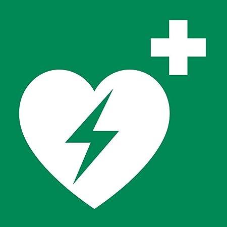 Hinweisschild Auf Einen Defibrillator Aed Automatisierter Externer Defibrillator Gem Asr A1 3 Folie 20x20cm Rettungsschild Praxisbewährt Wetterfest Baumarkt