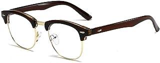 Anti Eyestrain Anti Glare Lens Lightweight Frame Eyeglasses for Men Women Blue Light Blocking Computer Glasses for (Color : 01 Coffee, Size : Free)
