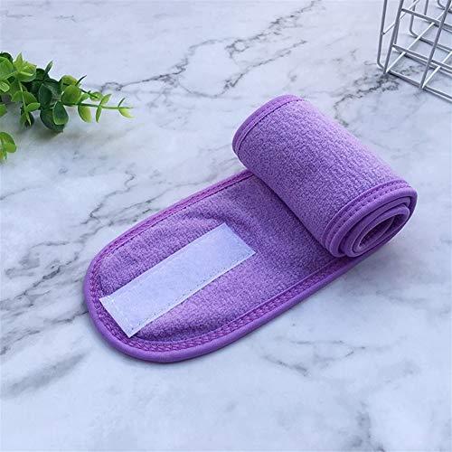 No branded Wrap Cap Douche Cheveux Bandeaux Bandeau réglable Extensible en Tissu éponge Bonnet de Douche Cheveux Enveloppé Nettoyage Cheveux Tissu Serviette (Color : Violet)