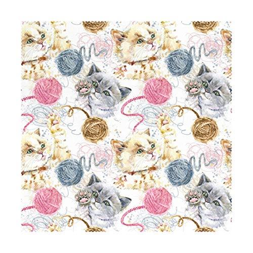 Set de 4 napperons antidérapants pour Table de Salle à Manger, Cute Funtime, 12 x 12 po