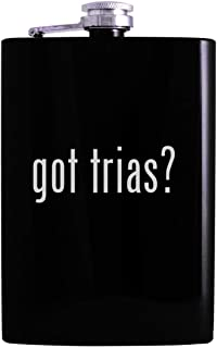 got trias? - 8oz Hip Alcohol Drinking Flask, Black