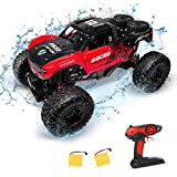 Amphibious RC Car Toy Remote Control Car Boat, Super Load-Bearing 4WD Off Road Racing Car, 1:12 Scale RC Truck - All Terrain Waterproof Toys Trucks for Kids and Adult -  MFanco