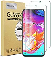 AOKUMA Samsung Galaxy A70 Tempered Glass Screen Protector, [2 Pack] Premium Quality Guard Film, Case Friendly,...