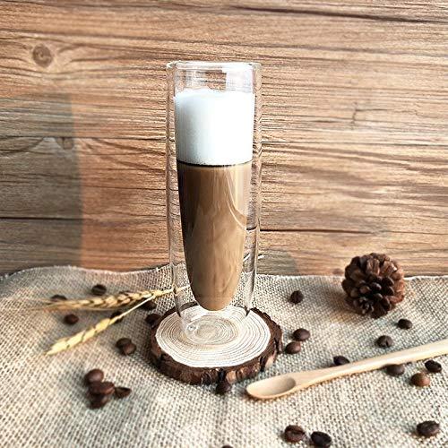 DOROCH 150 ml Taza de café de Doble Pared Toma Vodka Cerveza Gafas Beber Vino Copa de Vino Tazas de Jugo de champán Creativo Taza (Capacity : 1pcs 150ml)