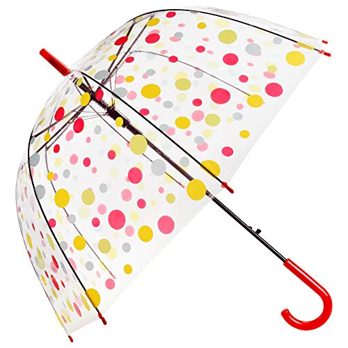 ASAB Clear Dome See Through Umbrella Windproof Automatic Strong Lightweight...