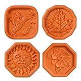 Brown Sugar Savers - Set of 4 - Hummingbird, Maple Leaf, Sun, and Daisy designs