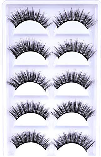10 paar valse wimpers, Mink handgemaakte herbruikbare lange dikke pluizige wimpers voor make-up bevat pincet