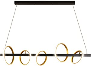 Nordic Chandelier Personality Modern Minimalist Ring Long Living Room Bedroom Chandelier (Color : Warm Light)
