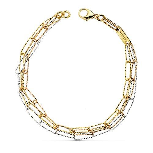 Alda Joyeros Bracciale da donna in oro tricolore 18 k Illusion