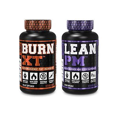 Burn XT Thermogenic Fat Burner & Lean PM Nighttime Weight Loss Supplement 60Ct Diet Pills