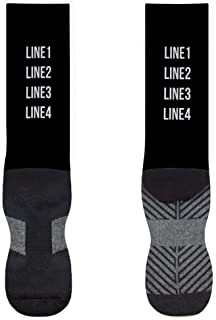 Custom Printed Mid-Calf Socks | Personalized Text/Message | Assorted Colors