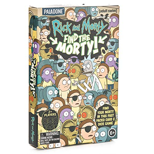 Paladone Find The Morty Game for Rick and Fan-36 Tarjetas y 3 Dados (PP6388RM)
